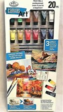 Royal & Langnickel 20 pc, Canvas Art Set---- 3 Complete Projects per Box