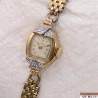 Vintage Benrus Model A 1 Ladies 17j Wristwatch For Parts or Repair Diamonds