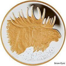Alaska Mint  MOOSE Gold Silver Medallion Proof 1Oz