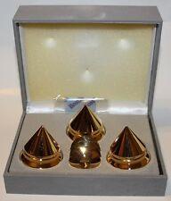 BBC Gold Audio Isolation Metal Cones Super (3pc),NEW