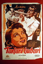 FANFARES OF LOVE BORSCHE EGGER 1951 UNIQUE RARE EXYU MOVIE POSTER