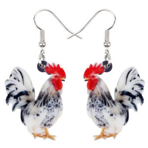 Chicken Lady Earrings Rooster Gifts Rooster Earrings Chicken Lady Gifts Animal Earrings