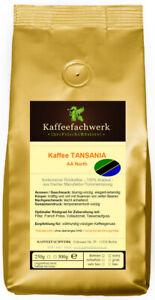 Kaffee Tansania AA North, frisch gerösteter Kaffee gemahlen oder Bohnen