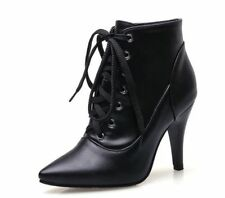 Leather Ankle Boots Formal Solid Shoes for Women