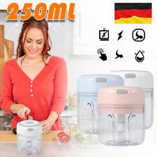 250ml Elektrisch Küchenmaschine Mixer Zwiebelschneider Knoblauchzerkleinerer