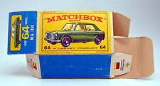 "Matchbox RW 64B MG 1100 leere originale ""E2"" Box"