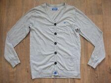 Adidas Originals Retro Gris Botón Frontal Slim Fit 80s Cardigan Sweater Top Grande