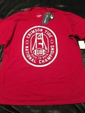 FANATICS ALABAMA National Champions 18' Back to Back Cardinal Red T-shirt Siz.XL