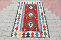 Turkish Kilim Rug 36''x63'' Hand Woven Kayseri Kilim 93x162cm Oriental Kelim