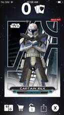 Topps Star Wars Digital Card Trader Galactic Files Clone Wars Rex Insert Award