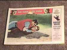 LAST SUNSET 1961 LOBBY CARD #4 WESTERN