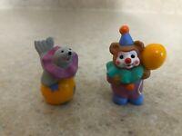 Hallmark 1996 Merry Miniatures Happy Birthday Clowns 2-Piece Set