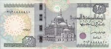 EGYPT 20 EGP POUNDS 2016 P-65 NEW SIG/T.AMER #24 BROWN FANCY SERIAL 88888XX UNC