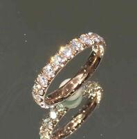 1.80Ct Round Cut D/VVS1 Diamond Eternity Wedding Band Ring 14K Rose Gold Finish
