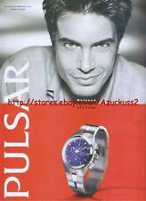 "Pulsar ""Relaxed Attitude"" Watch 2001Magazine Advert #2516"