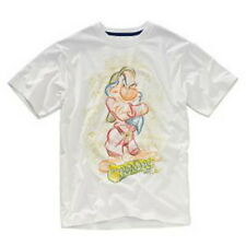 Disney Studio Collection Grumpy T-shirt Mens Size Large White New Free Shipping!