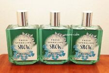 Bath & Body Works Fresh Sparkling Snow Shower Gel Body Wash x 3