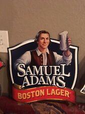 Sam Samuel Adams Boston Lager Beer Metal Tin Tacker Sign Man Cave Bar