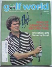 BRUCE LIETZKE d signed 1982 GOLF WORLD magazine AUTO Autographed HOUSTON COUGARS