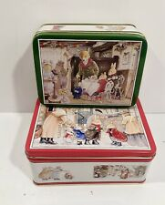 Foxwood Tales 1990 Holiday Nesting Set Of Two Cynthia Paterson Cookie Tins
