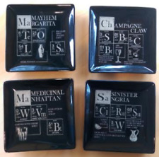 Pottery Barn Halloween Periodic Table Cocktail Plates - Set of 4