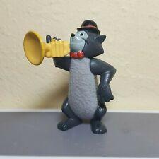Vintage 1970 Disney movie PVC gray Aristocats Tom cat playing bugle bowler hat