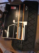 2 pc OEM MINI Cooper F56 Rubber Floor Mat Set Mini Logo Rear 51472354164