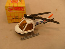 1982 MATCHBOX SUPERFAST #75 RESCUE HELICOPTER WITH BLACK BASE MIB