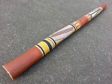 traditionelles Eukalyptus Didgeridoo Yidaki Mago ocker Painting Note F 111,5 cm