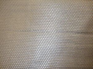 Vinyl Upholstery Faux Leather Fabric Basket Weave Tile /Metallic Silver ROLLED
