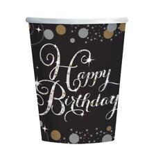 ORO CELEBRAZIONE Happy Birthday TAZZA DI CARTA 266ML - 8 Confezione