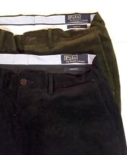 Polo Ralph Lauren Men  Classic Fit Cordroy Pants Lot 2 Black And Brown 32/33
