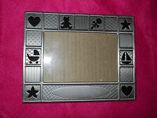 Burnes~ Engraveable Patchwork Pierced Baby Photo Frame 7 X 5 Brushed Metal