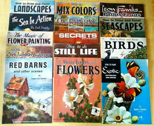 Lot of 15 Vintage WALTER T FOSTER How To Draw & Paint And More Art Books
