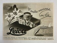 Pubblicità epoca 1942 LEICA FOTO PHOTO vintage advertising publicitè werbung