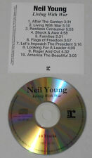Neil Young - Living With War - Advance CD With Song Listing Cover.