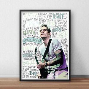 John Mayer Poster / Print / Wall Art / Slow Dancing in a Burning Room / Gravity
