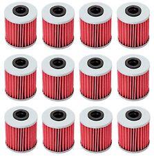 12 Oil Filter Filters for Suzuki RMZ250 RMZ450 RMX450Z KX250F Evo 250 300 4T