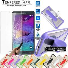 Tempered Glass Screen Protector & silicone bumper stand for Samsung Mobile Phone
