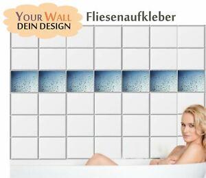 Fliesenaufkleber WASSERTROPFEN  Fliesen Sticker Bad Küche Kacheln Natur  B110-D