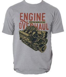 ENGINE OVERHAUL T shirt RETRO MUSTANG CAR CUSTOM mens t-shirt tee S-3XL