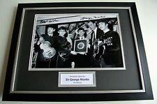 Sir George Martin SIGNED FRAMED Photo Autograph 16x12 display Beatles Music COA