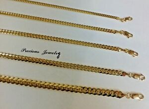 """Authentic14kSolid Gold Miami Cuban Link Chain Necklace 2.5mm-6.5mm size 16""""-30"""""""
