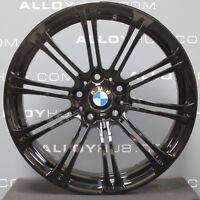 "GENUINE BMW M3 E90/2/3 19""INCH 220M SPORT 10 SPOKE GLOSS BLACK ALLOY WHEELS X4"
