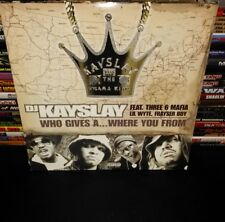 """dj kayslay """"who gives a... where you from & get retarded """" 12"""" vinyl (unplayed)"""