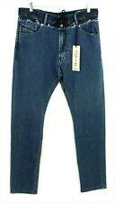 Diesel New Mens Jogg Narrot Denim & Sweat Pants Distressed Blue Jeans W32 BNWT