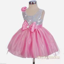 Patternless Holiday Formal Dresses (0-24 Months) for Girls
