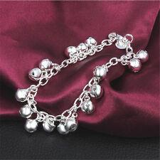 925 Sterling Silver plating New Men Women's bracelet Fashion Jewelry gift S8