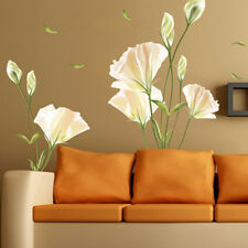 Family Removable Lily Flower Wall Sticker Decal Mural Decors Wallpaper DIY #US