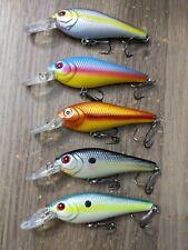 Lot Of 5 Bass Pro Shop XPS Minnow Crankbait Fishing Lures